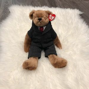 "Ty Beanie ""William ""Dressed For Success"" Bear NWT"